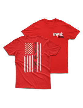 Red Firepunk American Flag T-Shirt