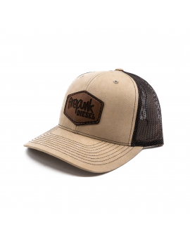 Firepunk Leather Patch Hat