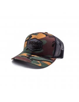 Firepunk Leather Patch Camo Hat