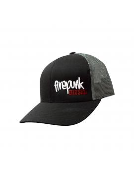 Firepunk Gray Meshback Snapback Hat