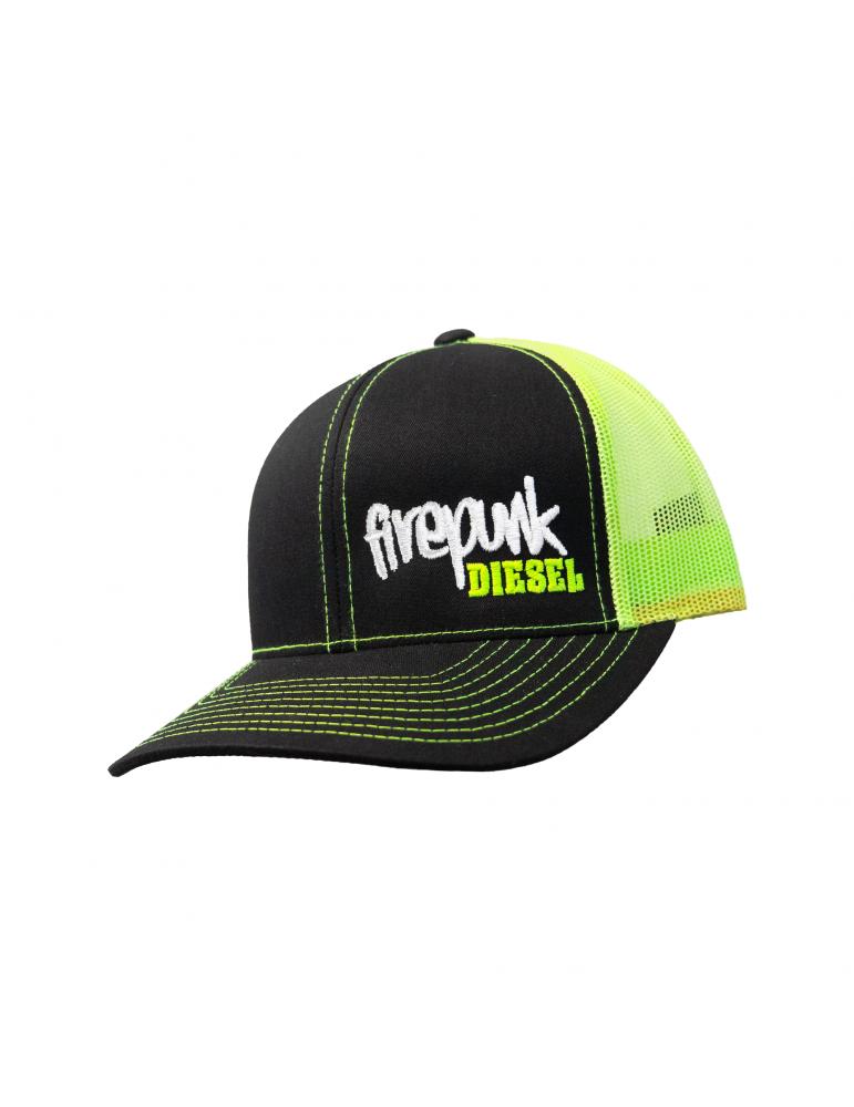 Firepunk Neon Green Meshback Snapback Hat