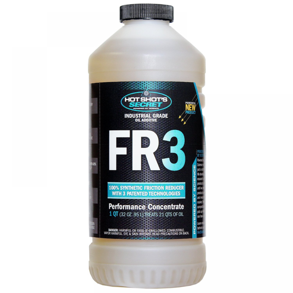 FR3 OIL ADDITIVE 32oz. - 100% Synthetic Friction Reducer with 3 Patented Technologies