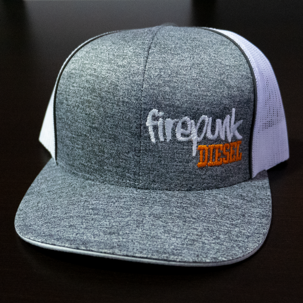 Firepunk Heather/White Snapback Hat