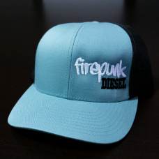 Firepunk Smoke Blue/Black Snapback Hat