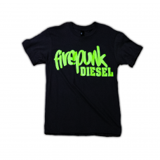 Firepunk Black & Green T-Shirt