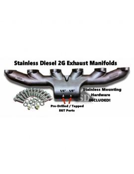 Stainless Diesel T-4 12 Valve Exhaust Manifold
