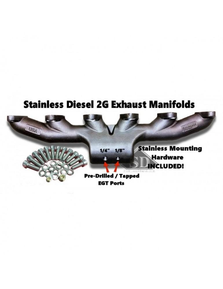 Stainless Diesel T-4 24 Valve Exhaust Manifold